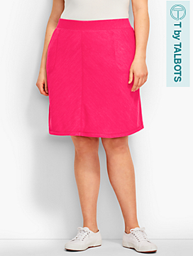 Marled Jersey A-Line Skirt