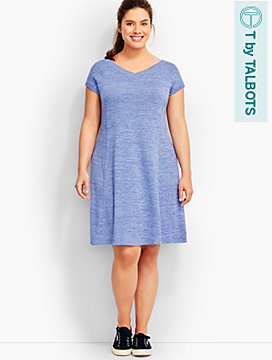 Marled Jersey Dress