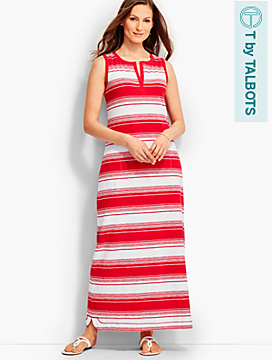 Bold Stripe Maxi Dress