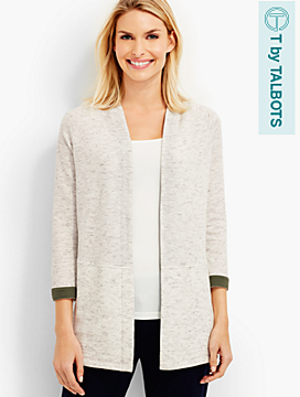Terry No-Close Cardigan
