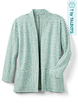 Space Dye Striped Cardigan