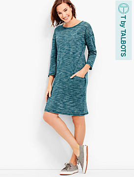 Shimmer Slub-Knit Dress