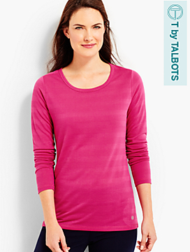 Long-Sleeve Textured Tee
