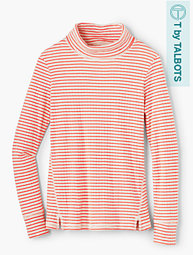 Outlook Stripe Scrunch-Neck Top