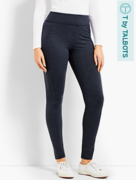 Diamond-Jacquard Legging - T by Talbots