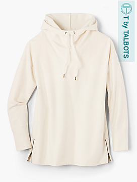Soft-Brushed Drawstring Hoodie