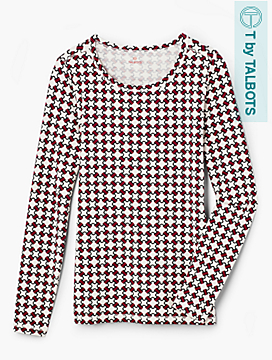Geo Status Print Long-Sleeve Tee - T by Talbots