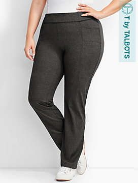 Womans Exclusive Textured High-Waist Straight-Leg