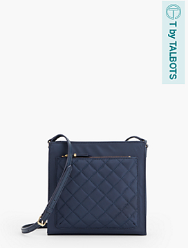 Quilted Front-Pocket Bag