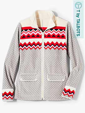 Chevron Fleece Jacket