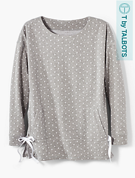 Sweetheart Terry Side-Tie Tunic