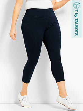 Womans Exclusive High-Waist Side-Strip Crop