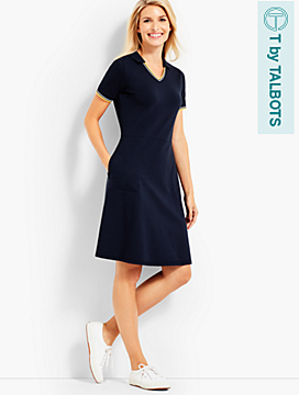 UPF 50 Pique Polo Dress