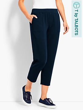 Essential Terry Straight-Leg Crop