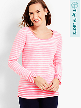 Long-Sleeve Stripe Tee