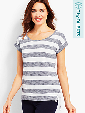 Stripe Roll-Cuff Tee