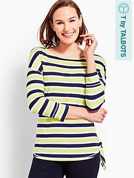 UPF 50+ Zingy Stripe Jersey Top