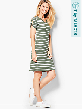 Drapey Knit Stripe Dress