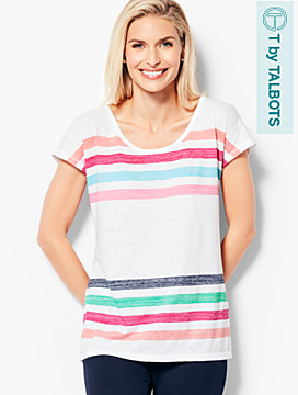 Breezy Stripe Slub Tee
