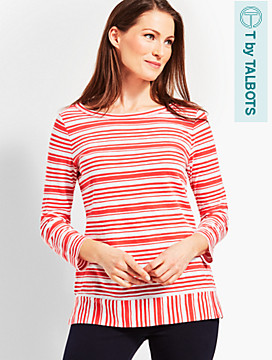 Exotic Stripe Slub Tee