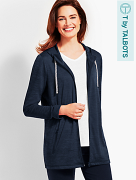 Soft-Drape Jersey Jacket