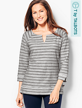 Stripe Terry Top