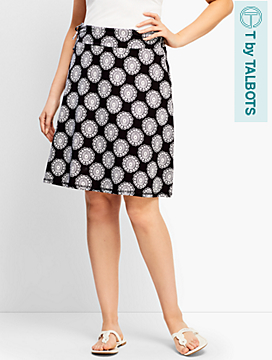 Flower Tile Side-Tie Skirt