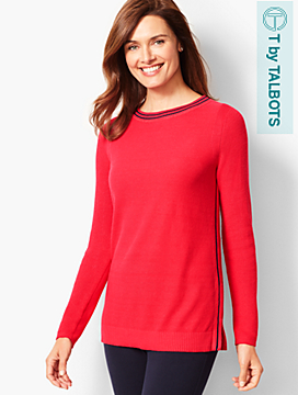 Side-Stripe Pullover