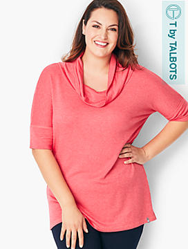 Terry Cowlneck Top
