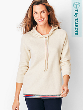 Textured Jacquard Hooded Top