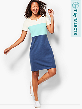Colorblocked French Terry Dress