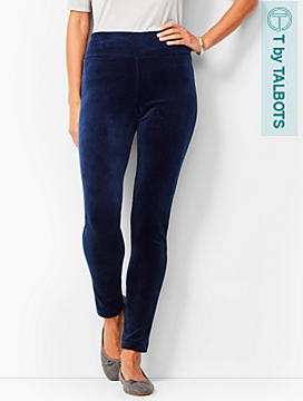 High-Waist Velour Leggings