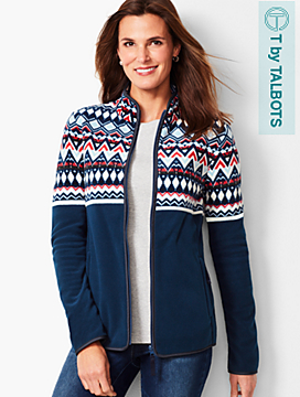Fair Isle Polar Fleece Jacket