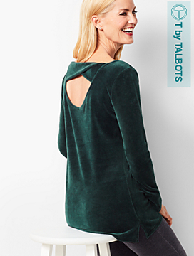 Luxe Velour Twist-Back Top