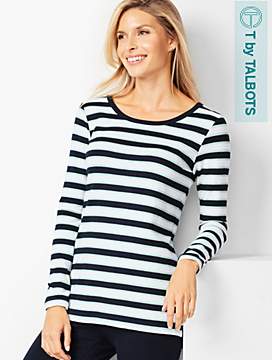 Open-Back Stripe Top