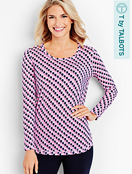 Long-Sleeve Tee - Club Dots