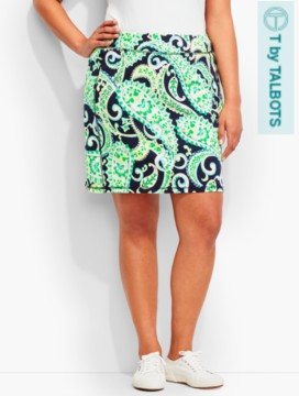 Everyday Knit Skort-Bright Paisley