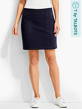 Everday Knit Skort-Ribbon-Trimmed