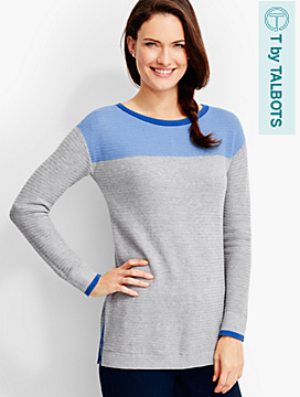 Colorblocked Side-Zip Sweater