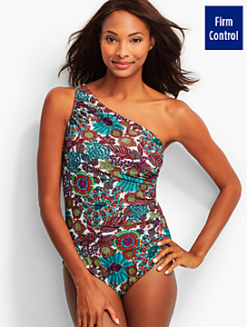 Beach Blooms One-Shoulder Swimsuit - Miraclesuit®