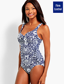 Dot Tile Marina One-Piece Swim Suit