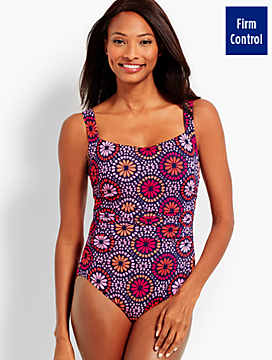 Beach Floral Cabana One-Piece
