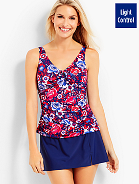 Floral Tie-Detail Tankini Top -  Miraclesuit®