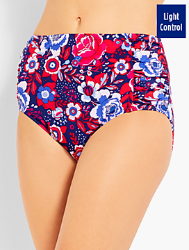Floral Ruched Panel Swim Brief -  Miraclesuit®