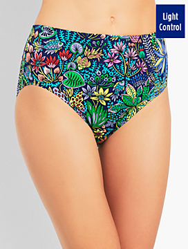 Basic Swim Brief - Sea Garden Print