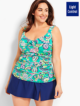 Womans Exclusive Marina Tankini Top-Paisley