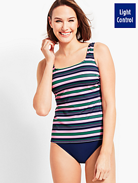 Harbor Stripe Tankini Top