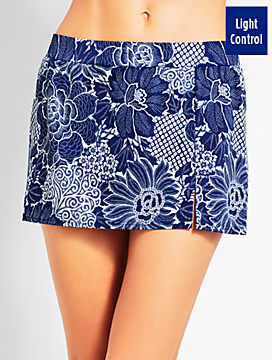 Dotted Flowers Swim Skirt