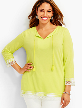 Lace-Trimmed Tunic