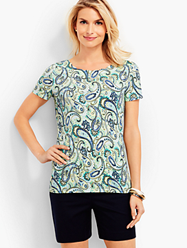Paisley Scalloped Tee